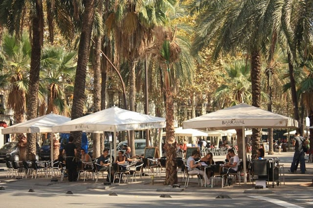 Praça em El Ravalem Barcelona