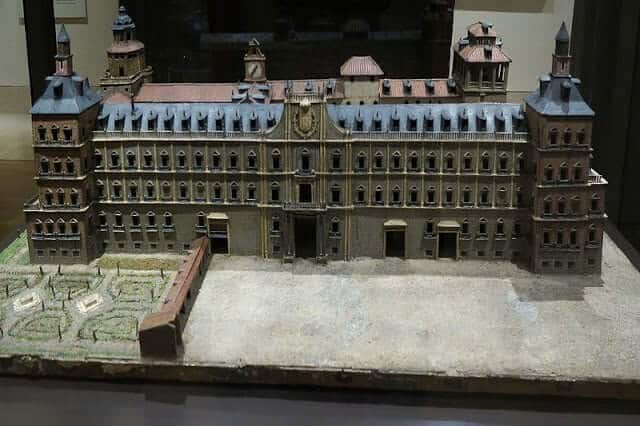 Miniatura do Alcázar no Museu da Historia de Madri