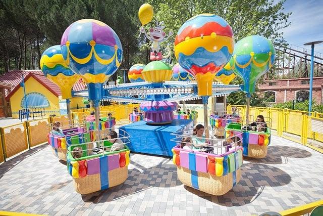Área Nickelodeon Land no Parque de Atrações de Madri