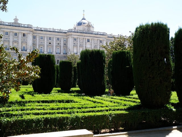 Jardines de Sabatini em Madri