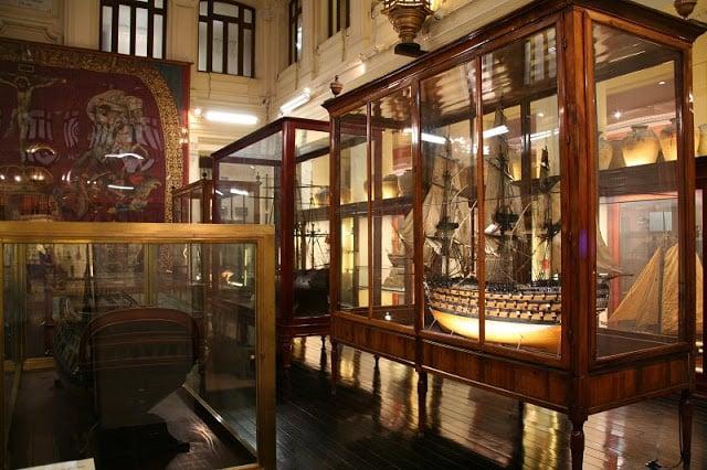 Interior Museu Naval em Madri