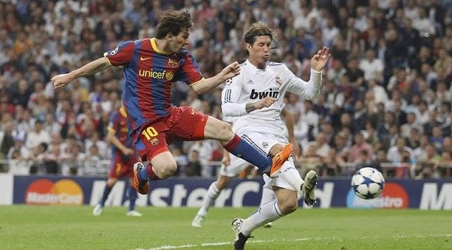 Jogo entre Real e Barça