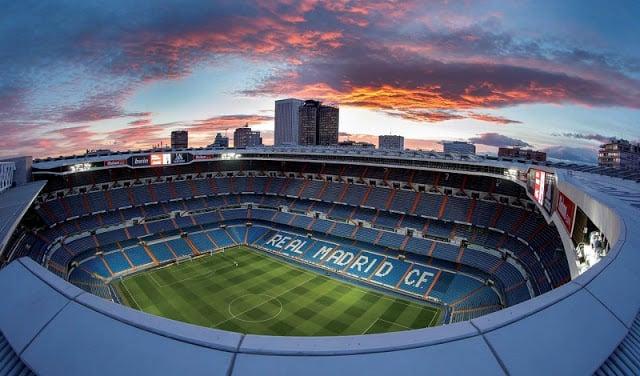Estádio do Real Madrid na Espanha