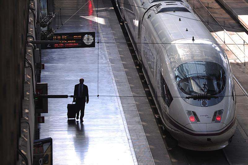 Trem AVE - estação de Madrid