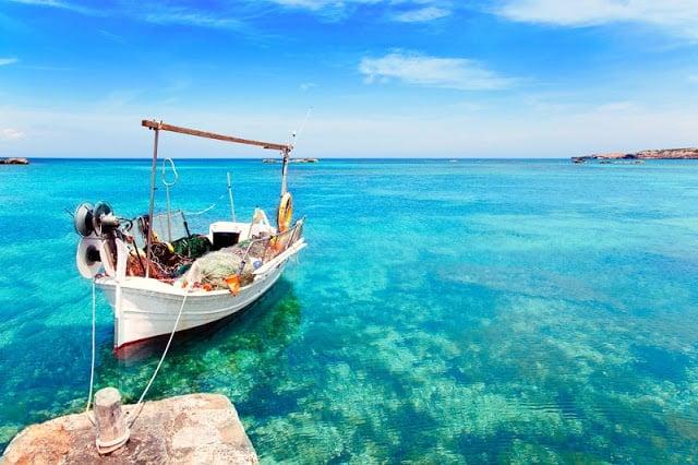 Praia des Pujols em Formentera