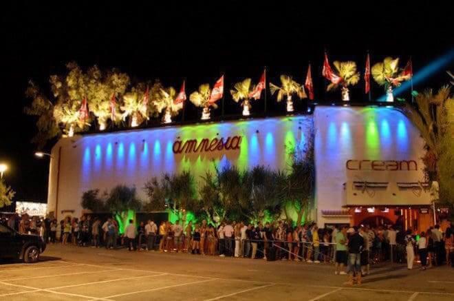 Festa Cream na Balada Amnesia em Ibiza
