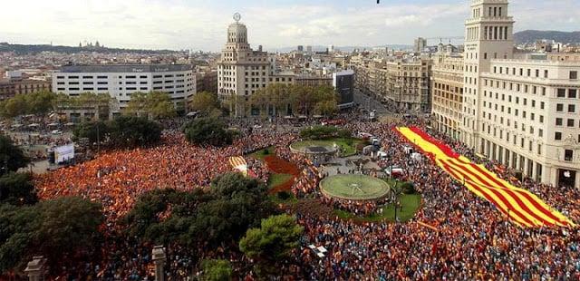 Dia da Nacional em Barcelona