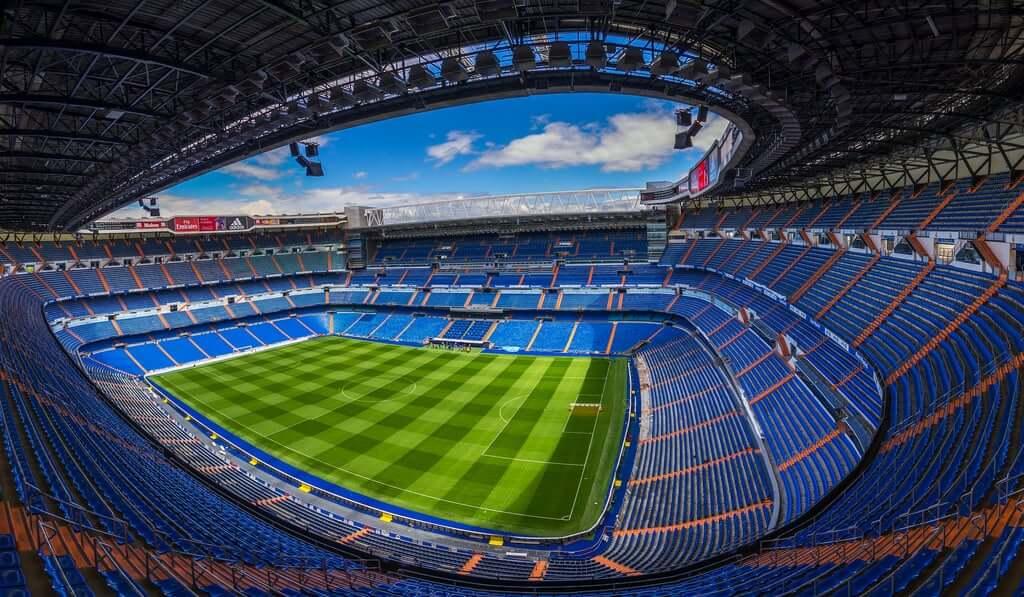 Estádio Santiago Bernabeu em Madri