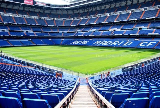 Estádio do Santiago Bernabéu em Madri