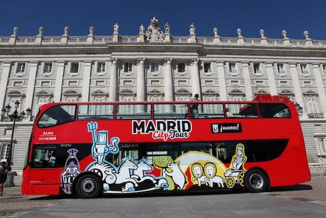 Ingressos para o passeio de Ônibus Hop On Hop Off em Madri