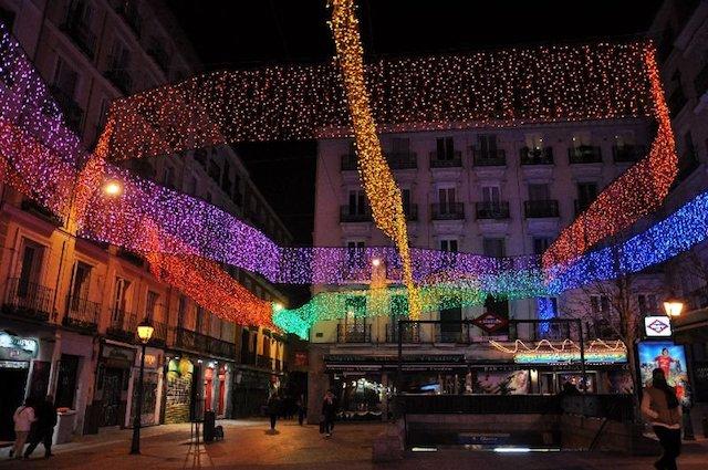 Iluminação das Ruas em Madri