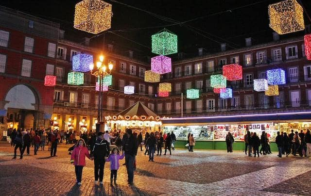 Mercado de Natal da Plaza Mayor