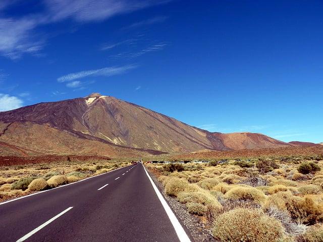 Como chegar ao Parque Nacional del Teide - estrada