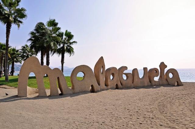 Playa de la Malagueta em Málaga