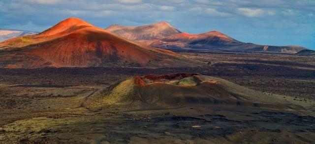 Montañas de Fuego no Parque Timanfaya