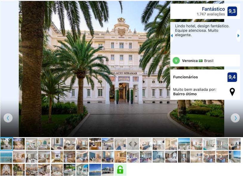 Gran Hotel Miramar em Málaga