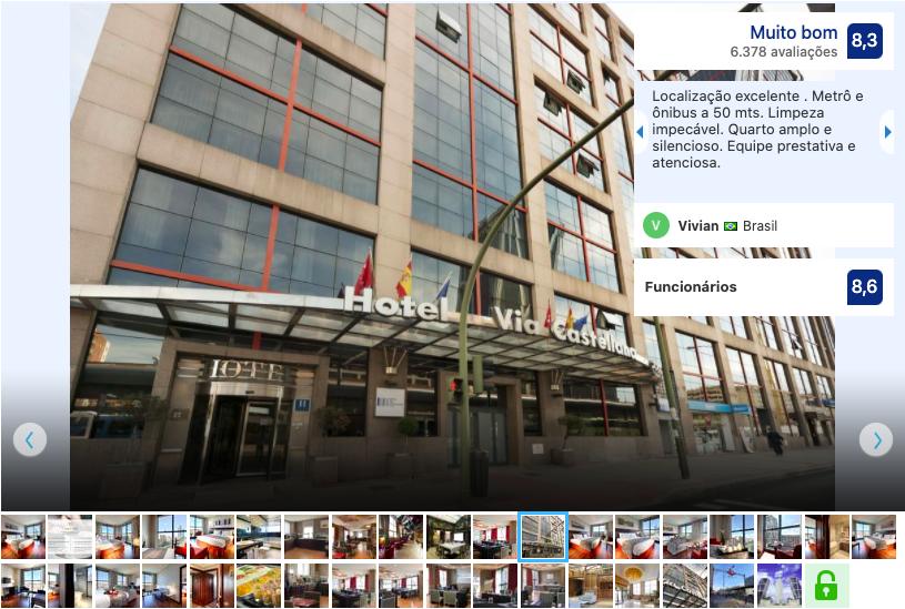 Hotel Vía Castellana em Madri