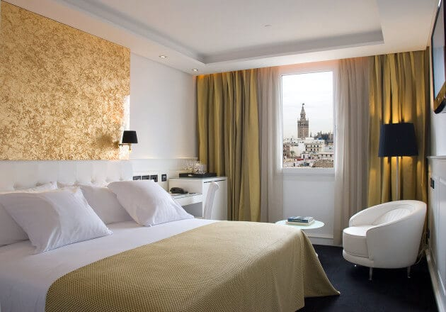 Hotel Gran Meliá Colón em Sevilha - quarto