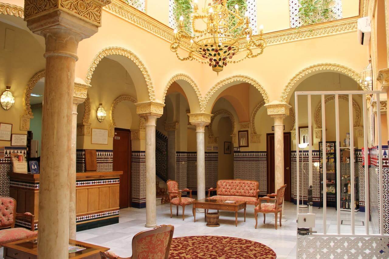Hotel Zaida em Sevilha - interior do hotel