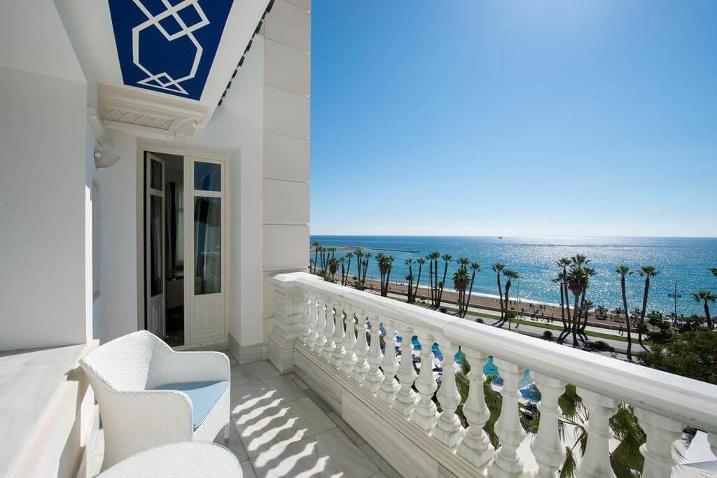 Gran Hotel Miramar em Málaga - varanda do quarto