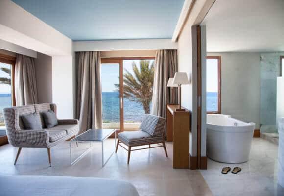 Hotel Gecko & Beach Club em Formentera - quarto