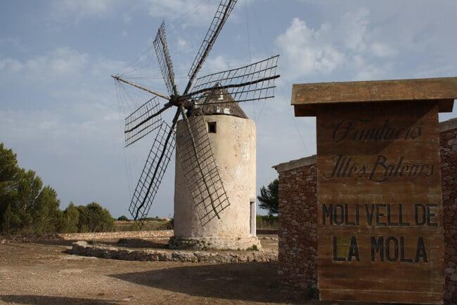 Moinhos de vento em Formentera - La Mola