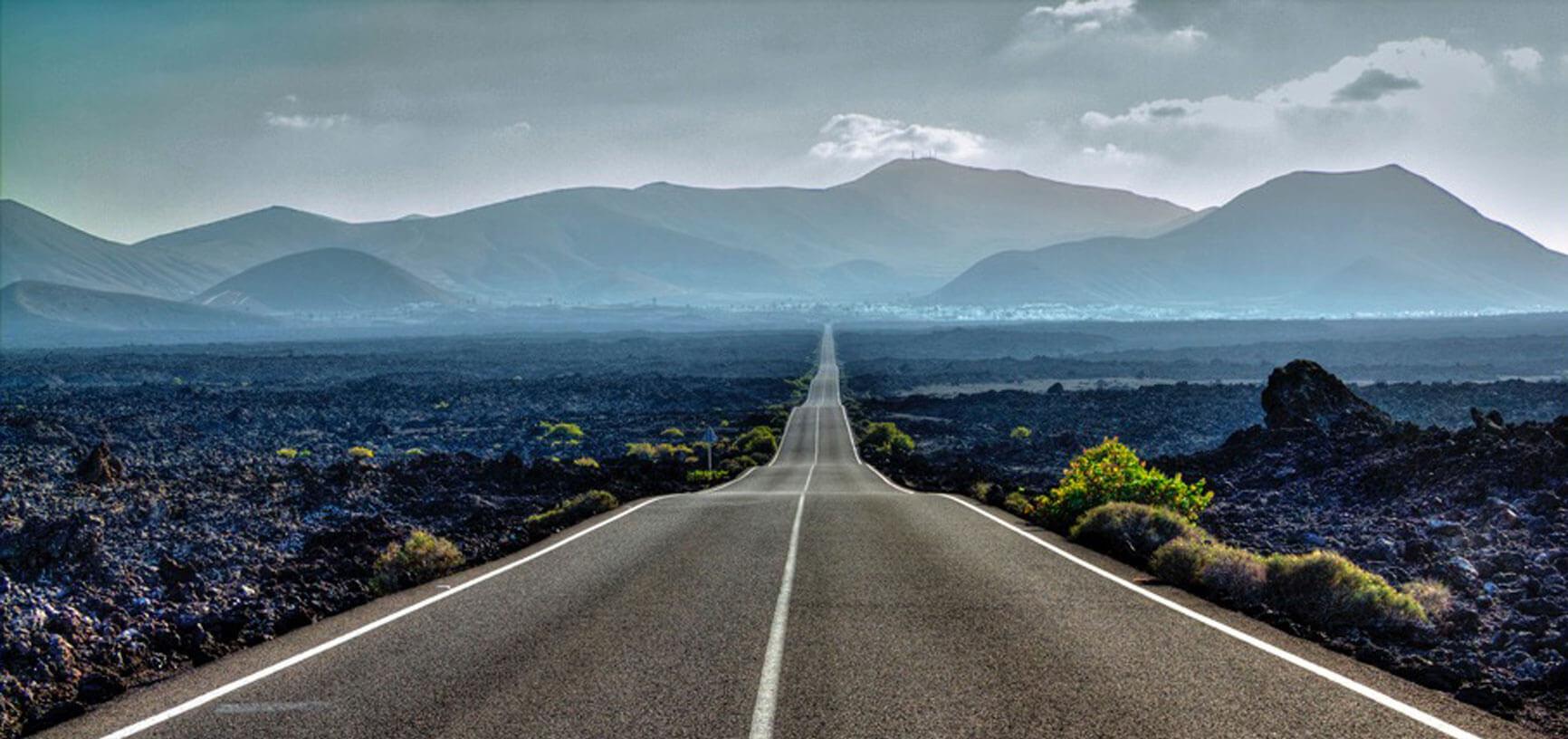 Estrada em Lanzarote