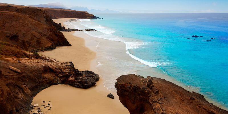 Ilha de Fuerteventura nas Ilhas Canárias
