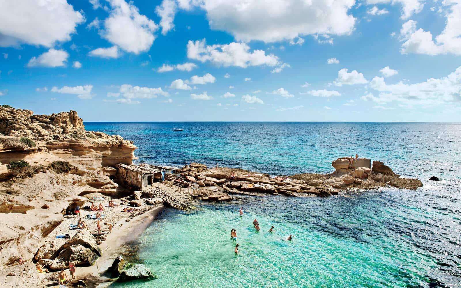 Dia ensolarado em Formentera
