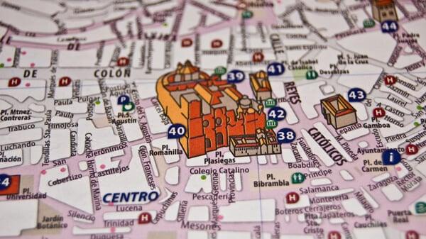 Mapa turístico - centro Granada