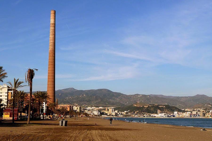 Playa La Misericordia em Málaga