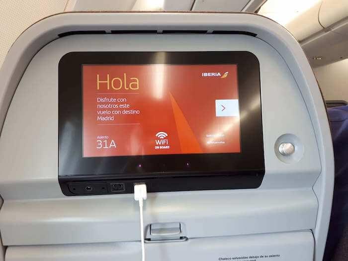 No avião com destino a Madri