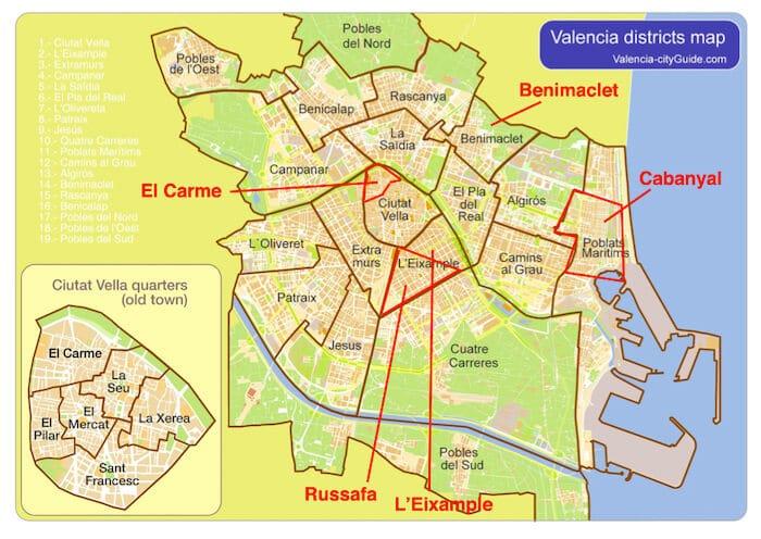 Mapa Valência
