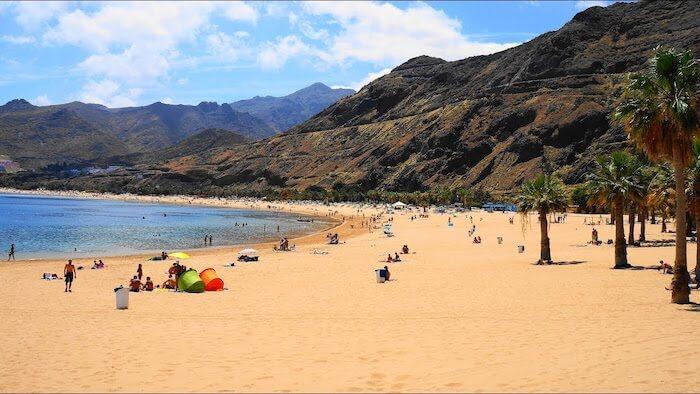 Playa Las Teresitas em Tenerife