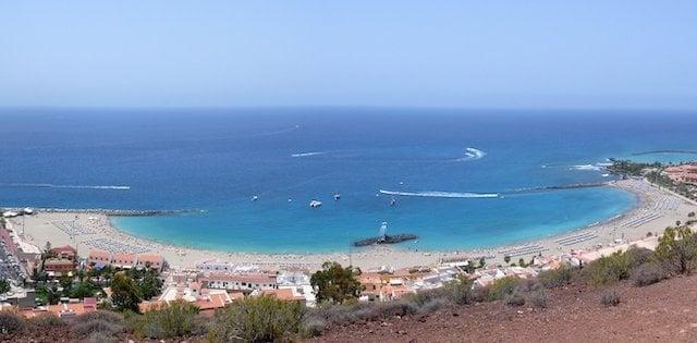 Praia de los Cristianos em Tenerife