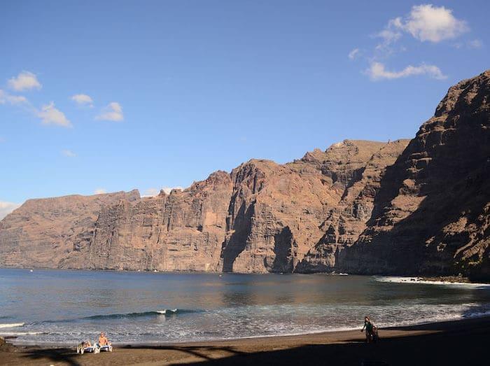 Praia Los Gigantes em Tenerife