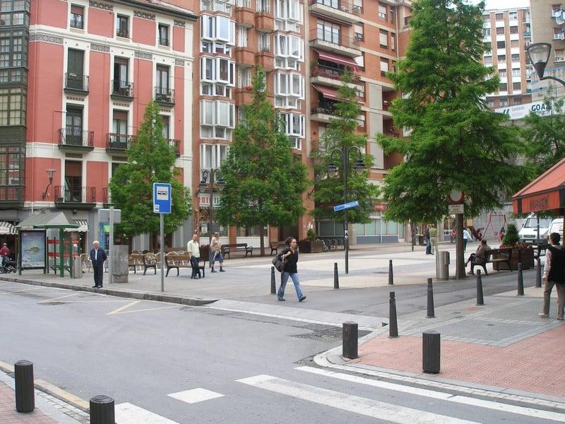 Plaza Moraza em Bilbao