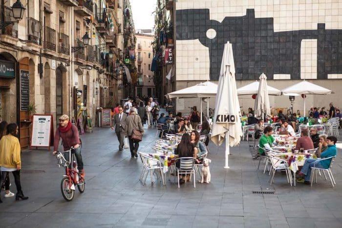 Bairro El Raval em Barcelona