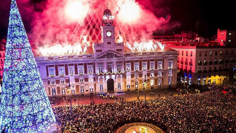 Ano Novo em Madri em 2020