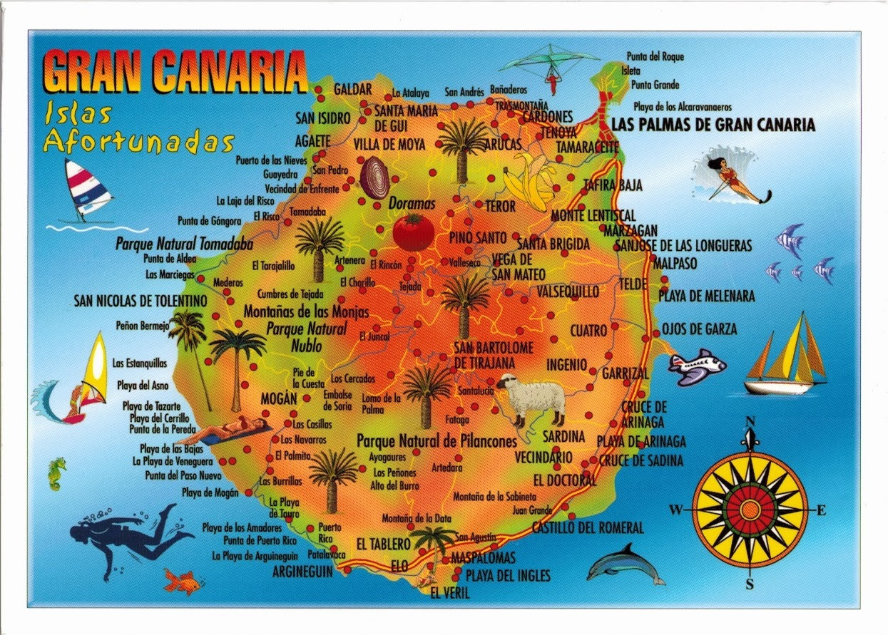 Mapa de Gran Canária