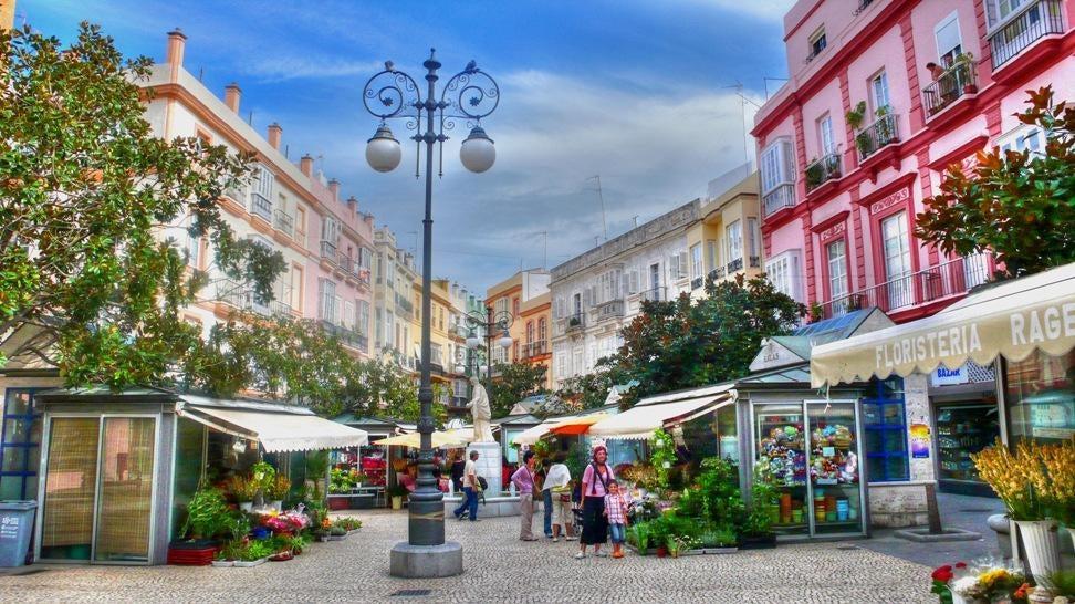 Plaza de las Flores em Cádiz