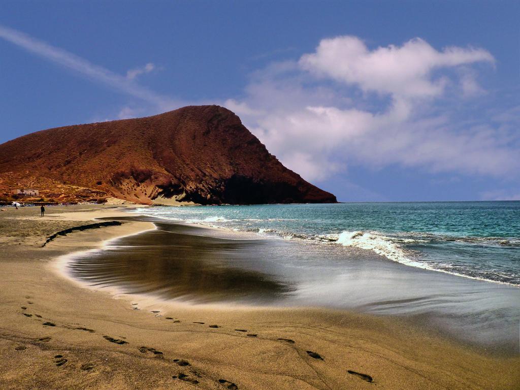 Vista da Praia de El Médano em Tenerife