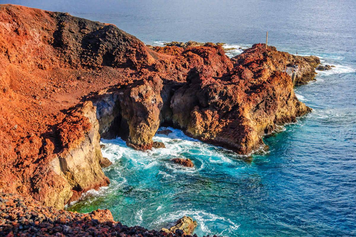 Vista aérea de Punta de Teno em Tenerife