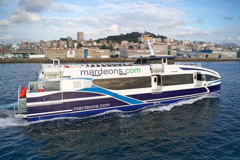 Empresa de ferries Mar de Ons na Espanha