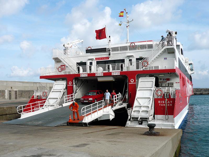 Embarque de ferries na Espanha